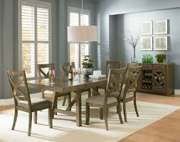 trestle dining room tables omaha weathered burnished gray extendable trestle dining room set