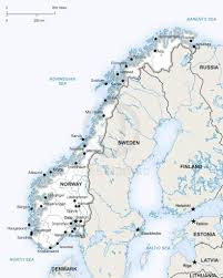 Map Of Norway Vector Map Of Norway Political One Stop Map