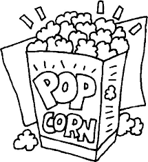 Food Coloring Pages Popcorn Coloringstar Food Color Pages