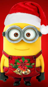 Minion Christmas Window Decorations by Merry Christmas Minions Mobile Wallpaper Mobiles Wall