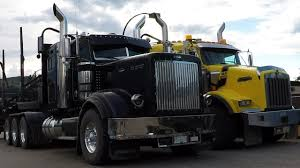 small kenworth trucks b c logging trucks 17 jf logging kenworth t800 u0026 peterbilt