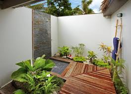 Wall Lining For Bathrooms Bathroom Attractive Outdoor Bathroom With Stand Shower And