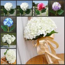 elegant hydrangea artificial silk flower wedding centerpieces
