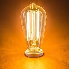 st18 led filament bulb 55 watt equivalent vintage light bulb