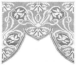 Crochet Lace Curtain Pattern Daffodil Lace Curtain Filet Crochet Pattern Claudia Botterweg Books