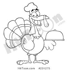 thanksgiving turkey clipart 231275 coloring page outline of a
