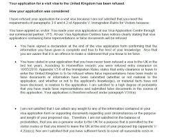 uk visa refused under 3 6 a of appendix v deception travel