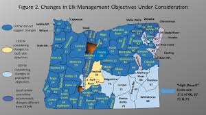 Salem Oregon Map by Deer And Elk Management Objectives Under Review