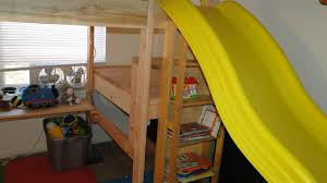 Woodworking Plans For Bunk Beds by Diy Bunk Bed With Slide Quick Woodworking Projects Small Home