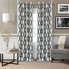 Blue And Grey Curtains Geometric Curtains U0026 Drapes Window Treatments The Home Depot