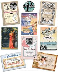 Save The Date Wedding Magnets 1920s Save The Date Cards Vintage Wedding Invitationsvintage