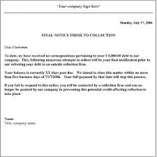 business debt collection letter template letter idea 2018