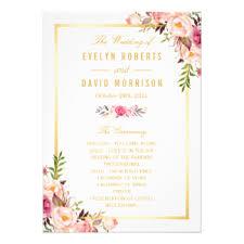 Diy Wedding Programs Wedding Program Invitations U0026 Announcements Zazzle