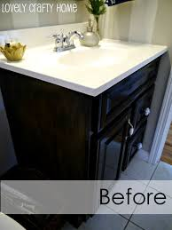 painted bathroom vanity cabinets great tutorial on how to paint