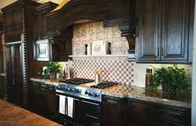 light backsplash with dark cabinets round shade pendant lights