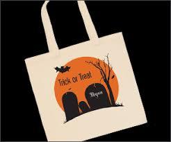 vistaprint 2 customized halloween tote bag