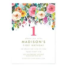 online invitation maker online birthday invitations painted floral birthday