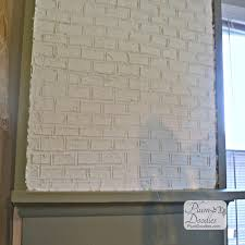 How To Lay Brick Fireplace by Faux Bricks Using Drywall Mud Drywall Mud Faux Brick And Drywall