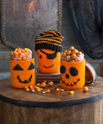 Halloween Jars Crafts by Get Spooky Red Heart