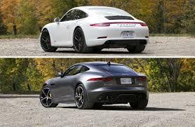 jaguar f type vs porsche 911 comparison test 2015 porsche 911 4 gts vs 2015 jaguar f