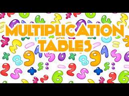 multiplication tables for children multiplication songs for children multiplication table 2d
