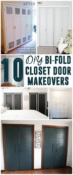 How To Build Bi Fold Closet Doors Diy Bi Fold Closet Door Makeovers Closet Doors Doors And Closet