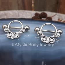 silver piercing rings images Nipple piercing shield 14g silver barbell from mysticbodyjewelry jpg