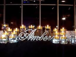 Sweet 16 Candelabra Crystal Rhinestone Sweet 16 Candelabras With Floating Candles