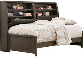 Daybed With Bookcase Santa Cruz Gray 5 Pc Twin Bookcase Daybed Daybeds Colors
