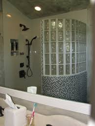 glass block designs for bathrooms tub space converted into a