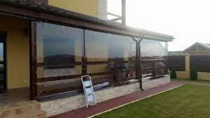 balkon pavillon durchsichtige kristall folie uv behandelt schließungen
