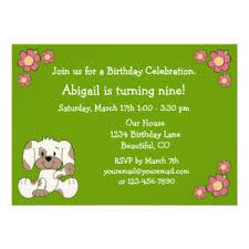 puppy birthday invitations zazzle co nz