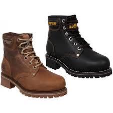 womens caterpillar boots uk caterpillar womens premium logger ankle boots casual block