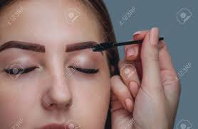 henna eye makeup master makeup corrects and gives shape to pull out with forceps