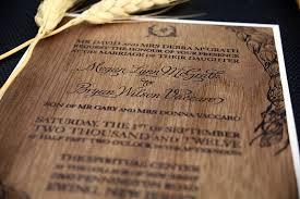 wooden wedding invitations wedding invitations for rustic ranch wedding wood veneer