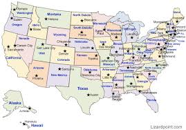 united states map with states and capitals and major cities us map state capital quiz united states map with states and