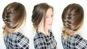 Hairstyles Easy And Quick by 3 Minute Braided Updo Hairstyle Quick And Easy Updo