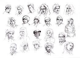 faces sketch study 6 by silentjustice on deviantart
