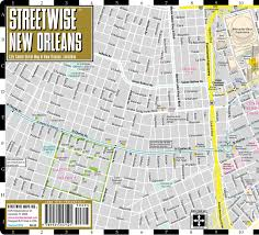 Map New Orleans French Quarter Streetwise New Orleans Map Laminated City Center Street Map Of