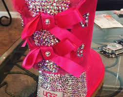 ugg bailey bow sale size 7 bling uggs etsy