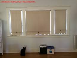 Roman Shades Over Wood Blinds Casement Windows With Roman Shades