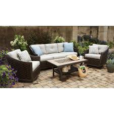 Curved Wicker Patio Furniture - genuine ohana outdoor wicker furniture the magic of sunbrella