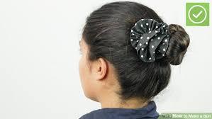 buns hair 6 ways to make a bun wikihow
