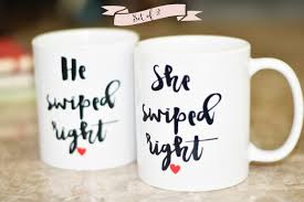i swiped right coffee mug set funny coffee mugs gift for