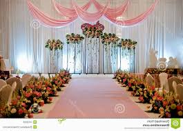 wedding stage decoration with white flowers decorating of party