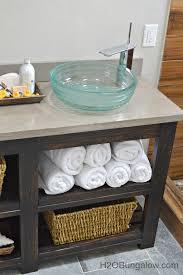 Bathroom Cabinet Shelf by Build An Open Shelf Bathroom Vanity Hometalk