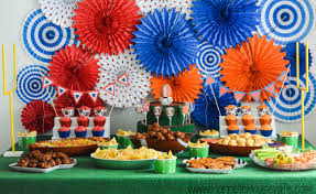 football party decorations football party theme decorations and easy party food