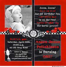 themed invitations photo race car birthday invitation checkered flag racing