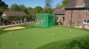 artificial putting green bunker net for a client