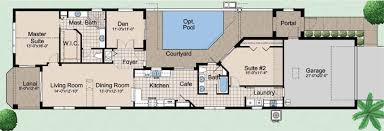 Luxury House Plans With Pools Home Narrow Lot House Designs Courtyard Plans Pool Home Building
